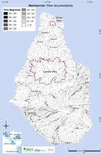 Montserrat Flow Accumulation