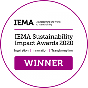 IEMA Sustainability Impact Awards 2020 Winners - New Product, Service or Technology